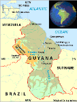 Map of Guyana - Land of Many Waters